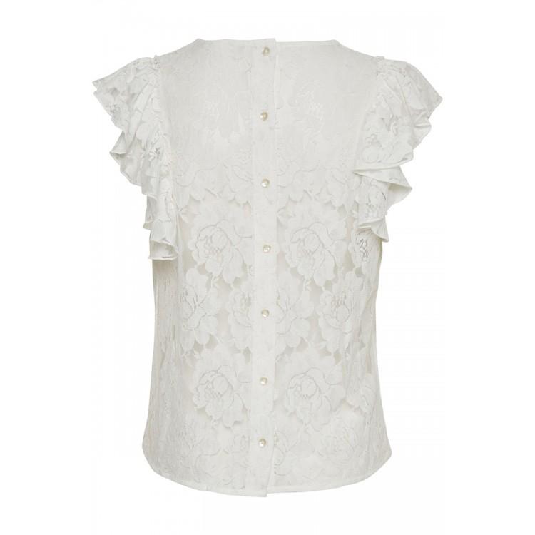 Cream top Alda lace Chalk