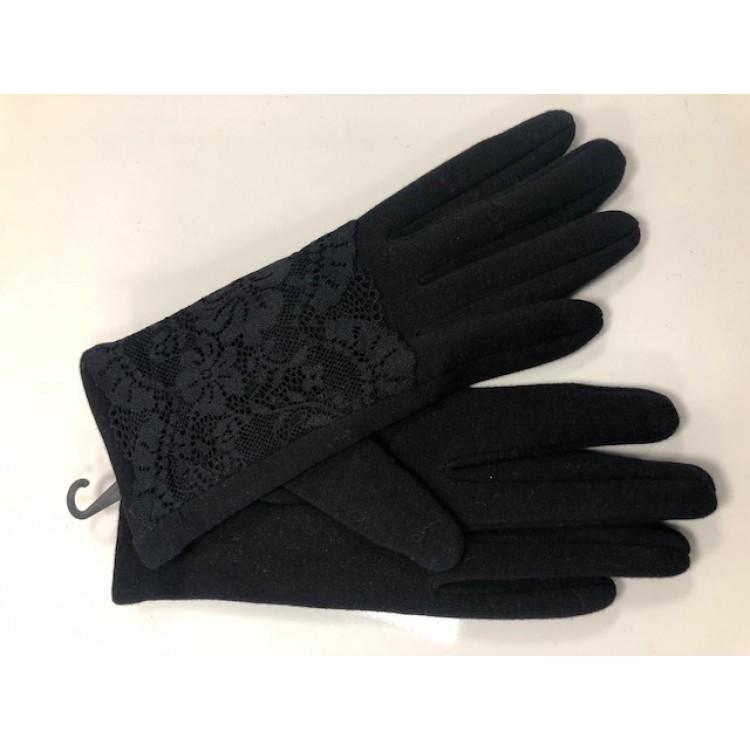 Handschoen Kant Zwart
