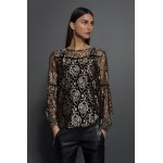 Kaffe Top Wikkie Lace Black