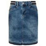 Tramontana Skirt Denim Raw Edge