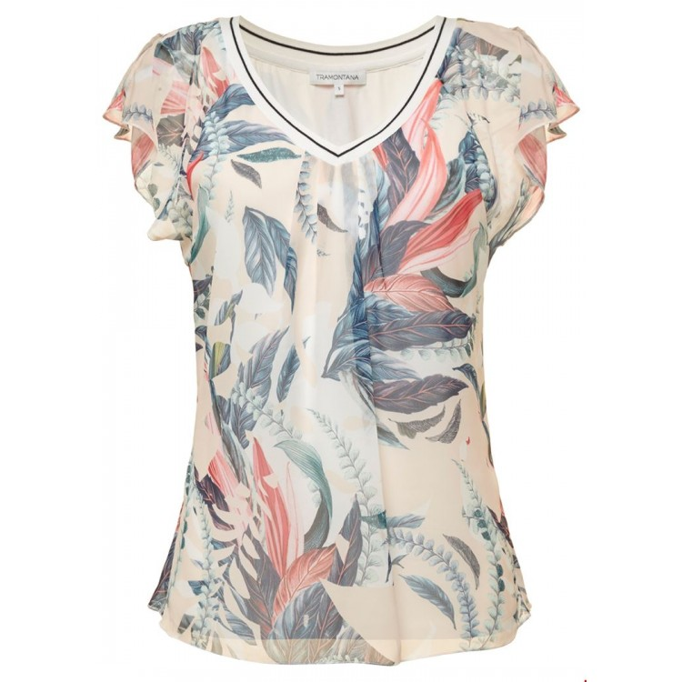 Tramontana Top V-neck Overlayer tropical