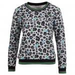 Enjoy Sweater leopard flower grey