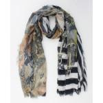 Indini Sjaal Ginger Groen/Geel