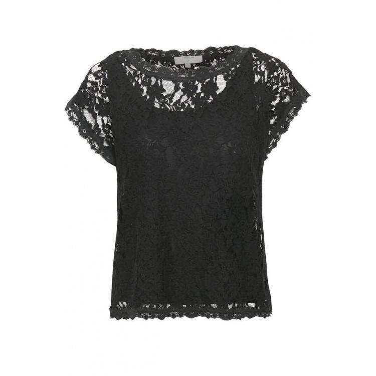 Cream Top Vivi lace Black
