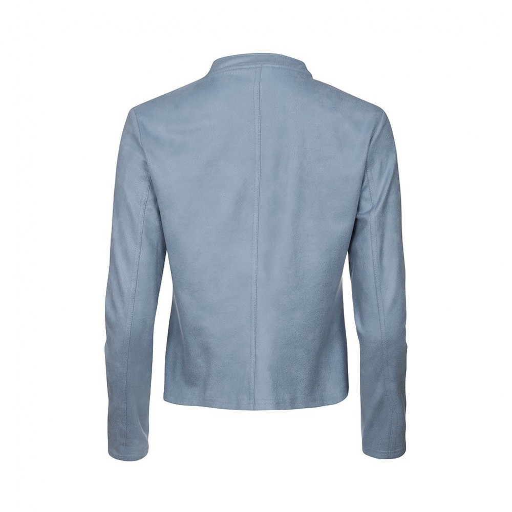 One Two Luxzuz Jacket Athena Coated Suede Ice Blue