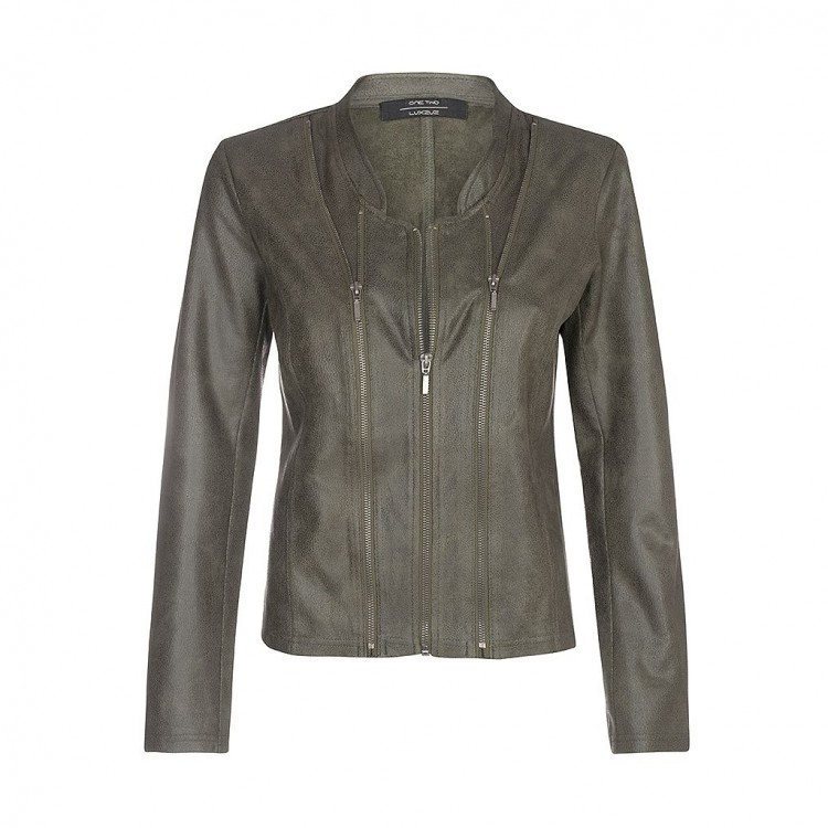 One-Two Luxzuz Jacket Athena coated Army