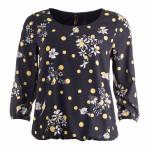 NED blouse Alesias 3/4 Marine flower