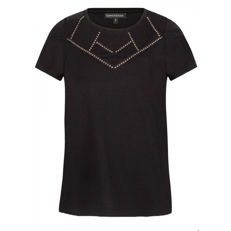 Tramontana Shirt Studded Zwart
