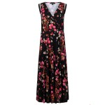 Tramontana Dress Midi flower print black