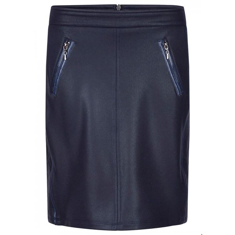Tramontana Skirt Suedine coated midnight