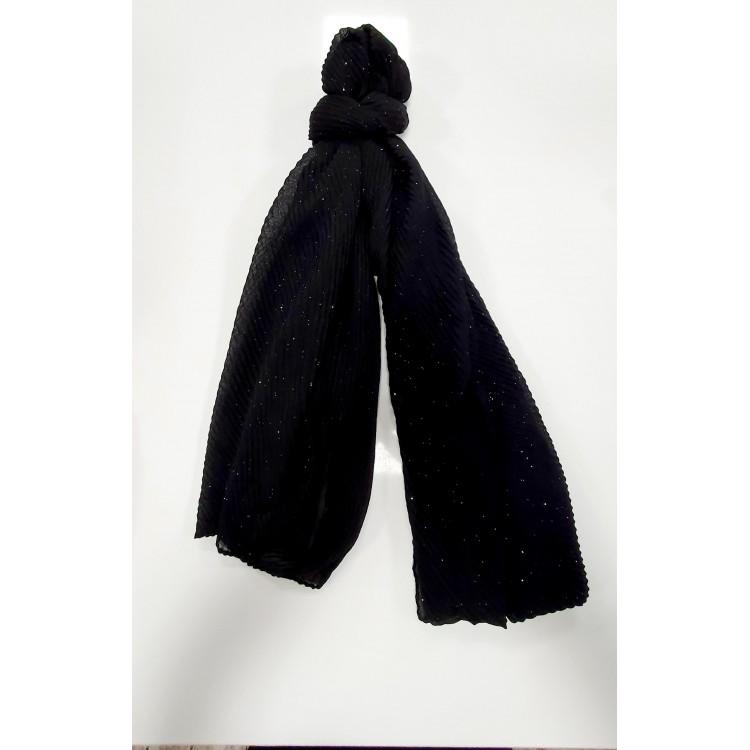 BB Sjaal zwart glitter